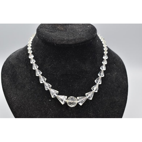 29 - Graduated 1950s Crystal Necklace