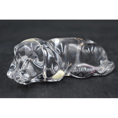 44 - Princess House Lead Crystal Dog Figure (4