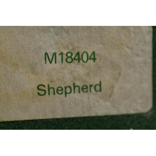 50 - Bronzed statue entitled Shepherd approx 6