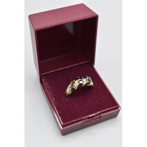 3 - Hallmarked 375 Gold Ring (Size P) Complete with Presentation Box (Stone Missing)