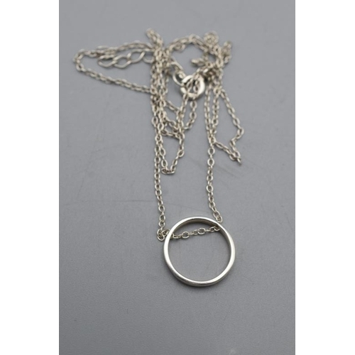 16 - Silver 925 Ring Pendant on Silver Chain