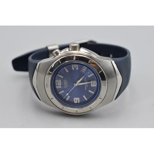 38 - Casio Edifice Neon Illuminator Watch with Japanese Movement and Rubberised Strap (Working When Teste...