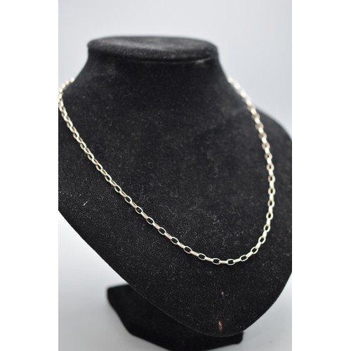 38A - Silver 925 Paper Chain Necklace