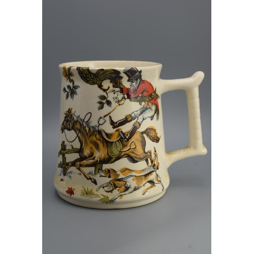 41A - Purbeck Ceramics Large Mug with Horse and Hounds Scene