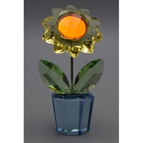 43 - Swarovski Crystal Potted Flower in Original Box