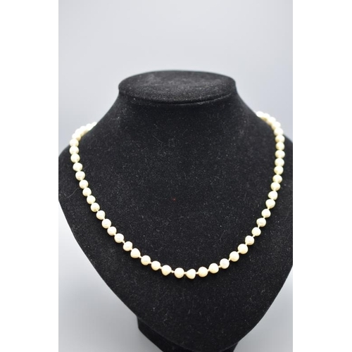 1 - Baroque Pearl Necklace with 9ct Gold Clasp (20