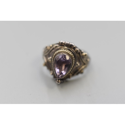 7 - Silver 925 Poison Ring