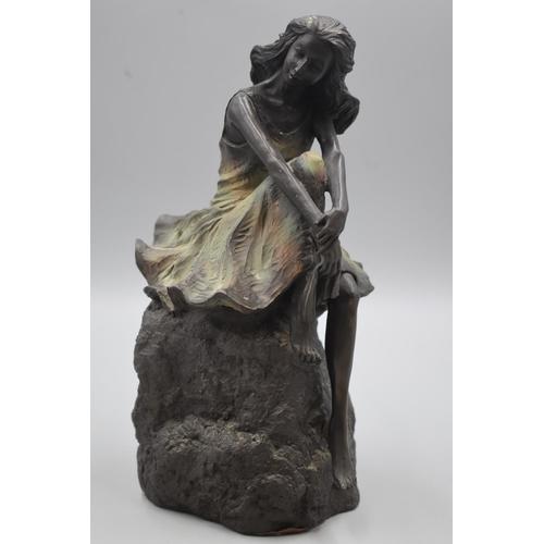 3 - Genesis Fine Arts of Ireland Bronzed Figure of Girl (12