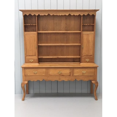 A stunning, solid, light oak dresser. Dimensions(cm) H202 W175 D49