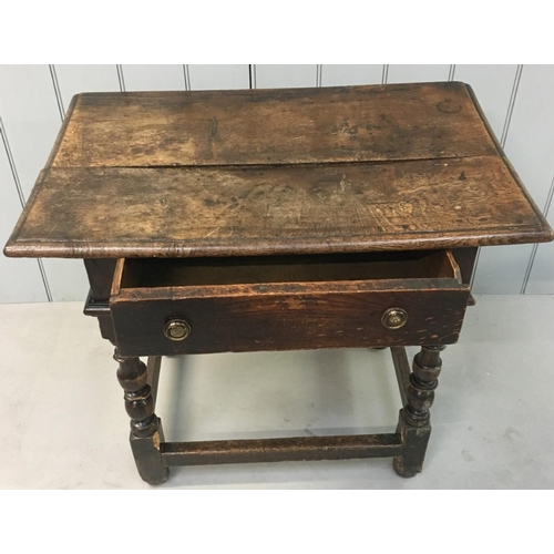 36 - A classic 18th century Oak Hall Table with single drawer. Dimensions(cm) H 72 W82 D54...