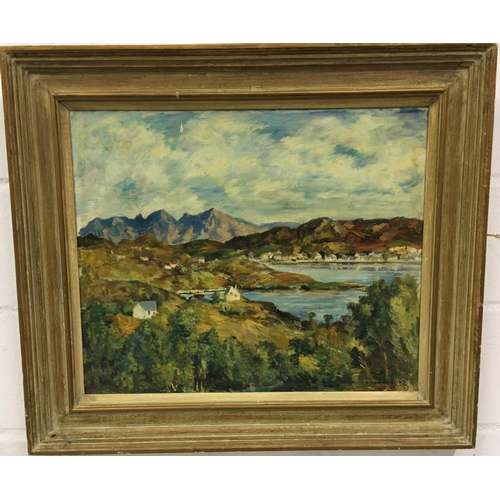 466 - A signed oil on canvas by James Torrington Bell (Scottish 1898-1970) 68cmx78cm...