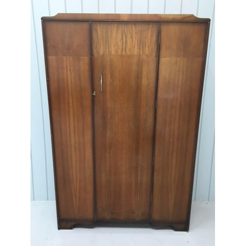 4 - A lightweight Gentleman's wardrobe. c1950's. Matching Ladies Wardrobe available. Dimensions(cm) H184...