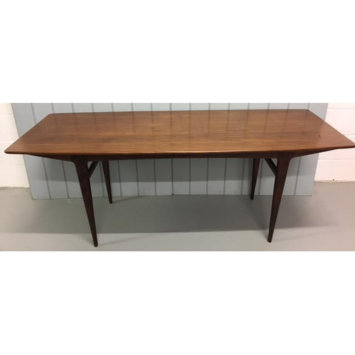 49 - Purchased in the late 1950's/early 60's, this is thought to be an original Afromosia Dining Table, s...