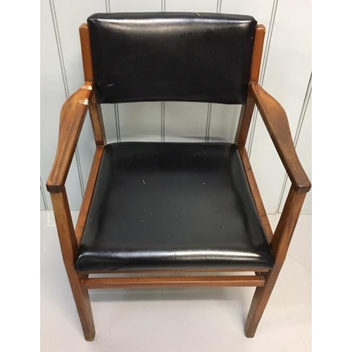 52 - A good pair of mid-century office/reception chairs. Dimensions(cm) H 81 (45 to seat), W57 D49...