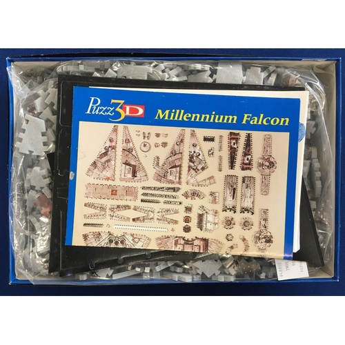 246 - Star Wars Millenium Falcon 3D Puzzle. As new/complete. Puzzle pieces still sealed. 857 pieces....
