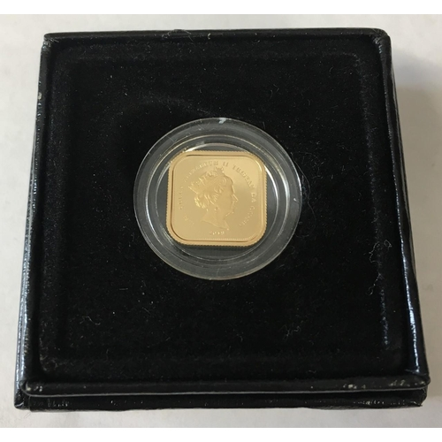 A Quarter Gold Sovereign from Hattons of London