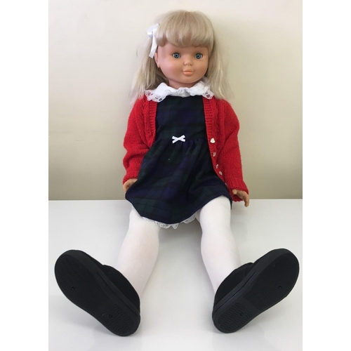 "A large scale ""Nancy"" doll from the Spanish manufacturer Famosa. Incorporates light-up features. c.1980's. Height 90cm."