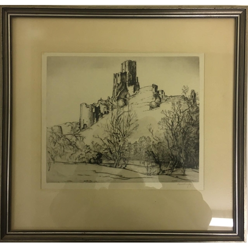 5 - A framed, plate print of