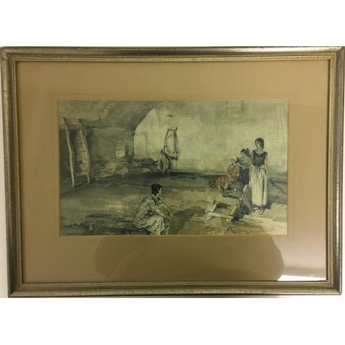 9 - A framed print after Sir William Russell Flint