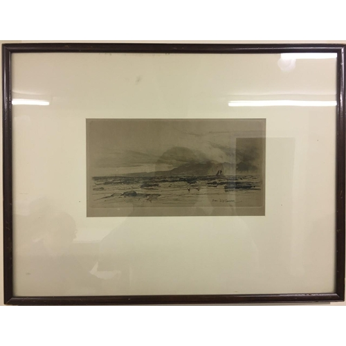10 - A framed print by Sir David Young Cameron