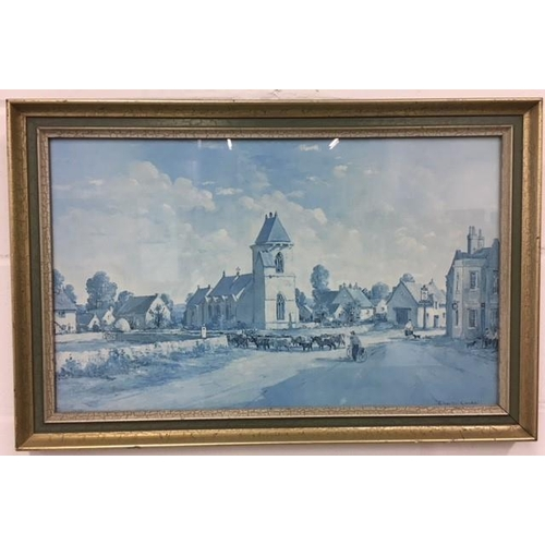 23 - A limited edition, pair of framed Lithograph prints by Charles Ernest Condall. Scenes of Bradford up...