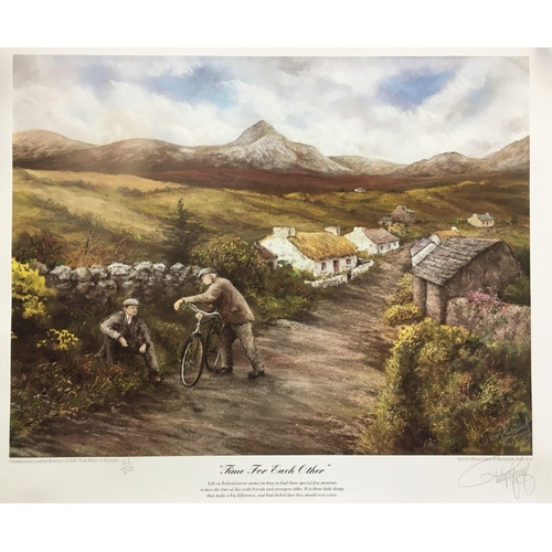 28 - Four unframed limited edition, signed prints by Irish artist, Philip Gray. All have certificates of ...