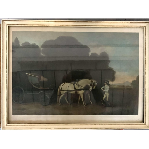 36 - A vintage framed print of a Phaeton & Ponies, originally by George Stubbs. Dimensions(cm) H47 W65 D2