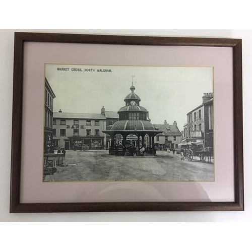 53 - Vintage Framed Photographs of Norfolk (x3). Two Francis Frith collection - Cromer Pier 1902 & Mundes...