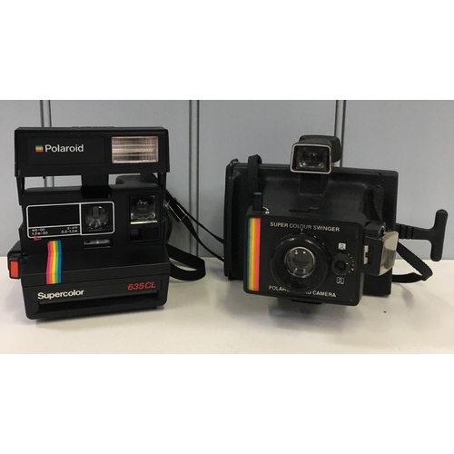 59 - Two vintage instamatic cameras from 1970's/80's. Polaroid 635CL & Polaroid Supercolour Swinger