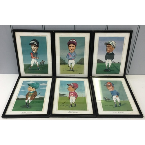 1 - A selection of six Ager sporting (jockey) reproduction prints from the 1960's. Features Lester Piggo...