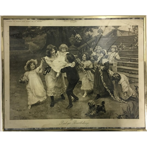 40 - An antique, framed supplement to Weldon's Ladies Journal, Dec. 1911, entitled