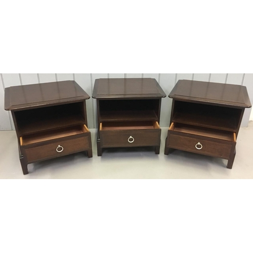 55 - Three identical Bedside Cabinets made to co-ordinate with the Stag Minstrel range. Dimensions(cm) H5...