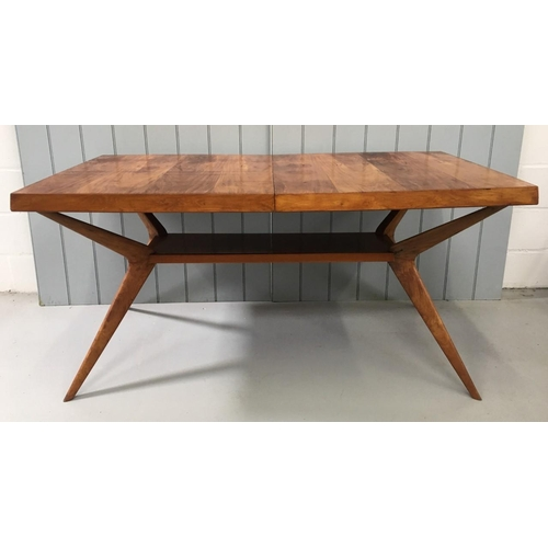 79 - A stunning, mid-century Rosewood Dining Table, with Sputnik legs aside a central strut. Dimensions(c...
