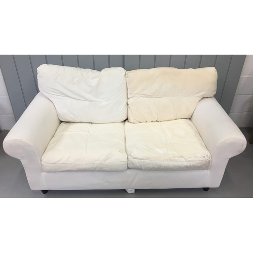 164 - An uncovered two-seater Sofa. Dimensions(cm) H72(44 to seat) W180 D85
