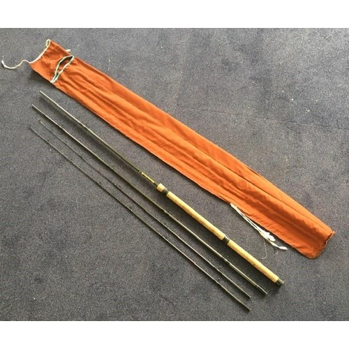 Mal Storey Carbon Feeder Fishing Rod. Cork handle, with bag. 12ft. 4-piece.