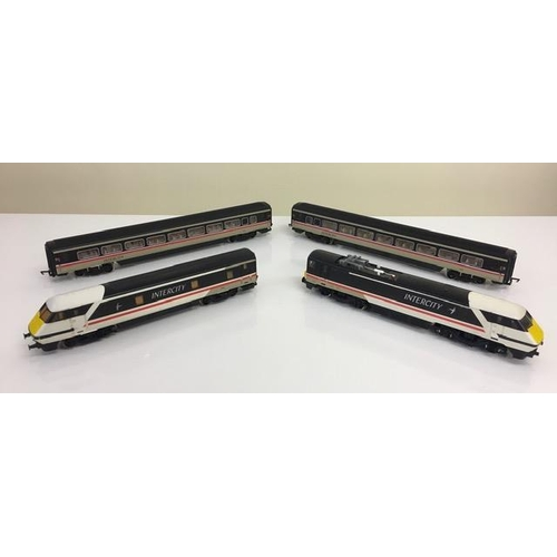Unboxed, Hornby R240 Intercity set. Includes Class 91 Locomotive, dummy power car & two coaches.