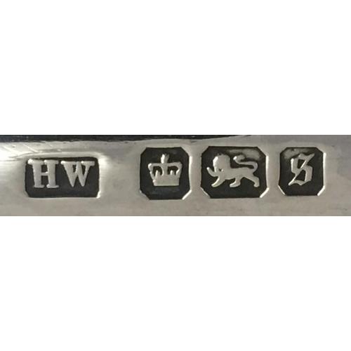 728 - A stunning, Edwardian/Georgian Sterling Silver Desk Stand, raised on bun feet. Tray, ink bottle top ...