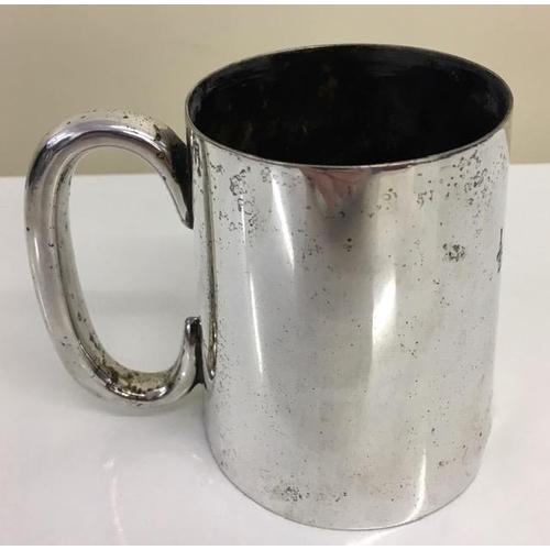 729 - A Zanzibar silver, half-pint Tankard. Stamped