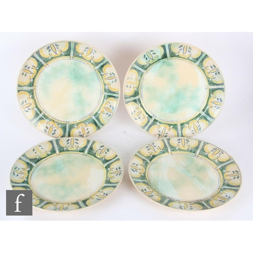39 - A 1920s Frank Brangwyn for Royal Doulton part dinner service comprising three graduated meat plates,...