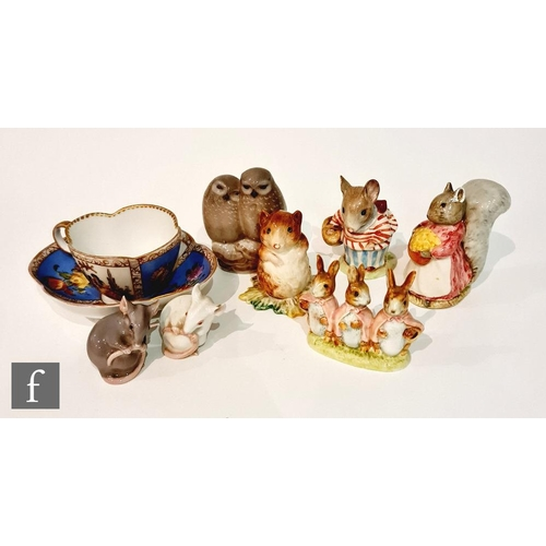 38 - Four assorted Beswick Beatrix Potter figurines comprising Timmy Willie, Mrs Tittlemouse, Goody Tipto...