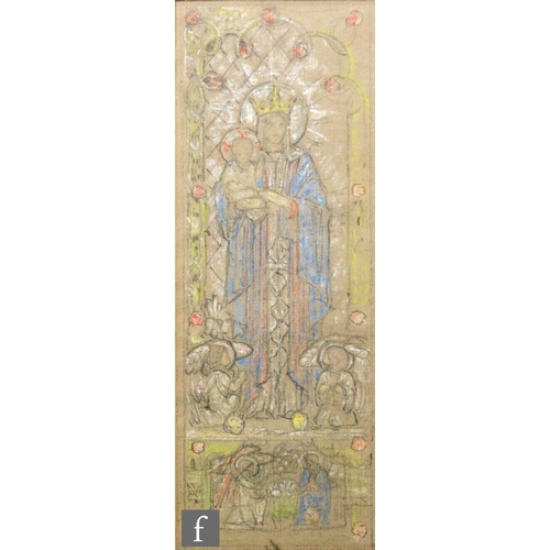 36 - Attributed to Sidney Harold Meteyard (1868-1947) - Madonna and Child, pencil and coloured pastel sta...