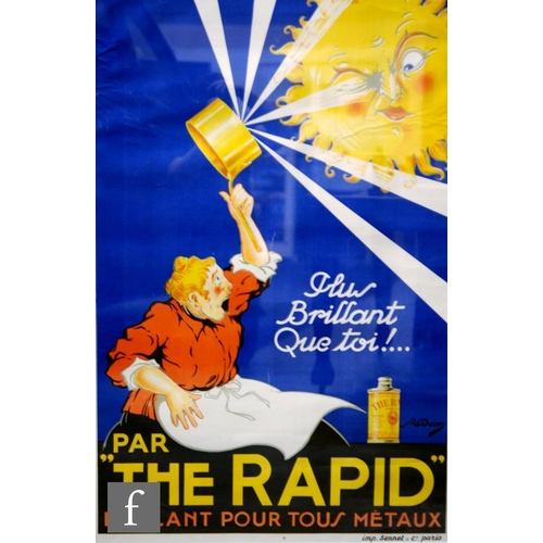 27 - After R. Dion (C. 1910) - A French lithographic poster for 'The Rapid' metal polish, printed c.1910,...