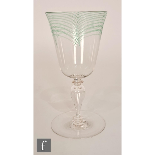 18 - Harry Powell - James Powell & Sons - An early 20th Century Minerbi wine glass, circa 1906, the cup f...