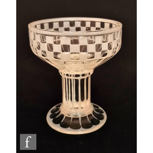 4 - Otto Prutscher - Meyr's Neffe - A 1920s Secessionist champagne coupe of cylindrical form with a holl...