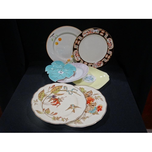 26 - A Carltonware Leaf Shaped Serving Dish, Together With A Quantity Of Circular Plates (7)