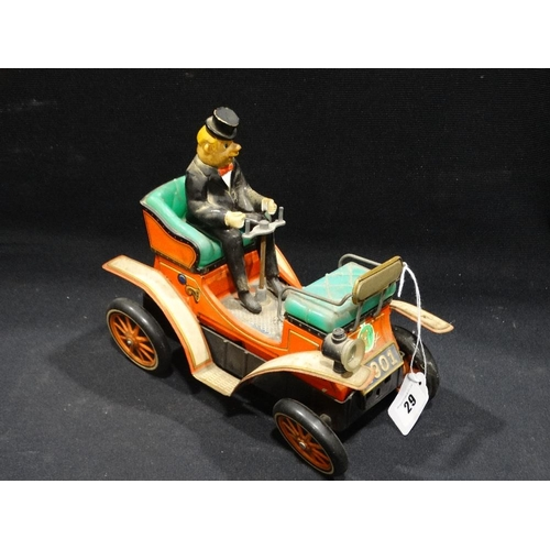 29 - A Japanese Manufacture Mid 20th Century Battery Operated Vintage Car