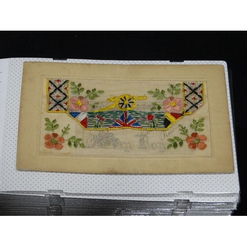 30 - An Album Of Approx One Hundred 1st World War Period Silk & Other Postcards