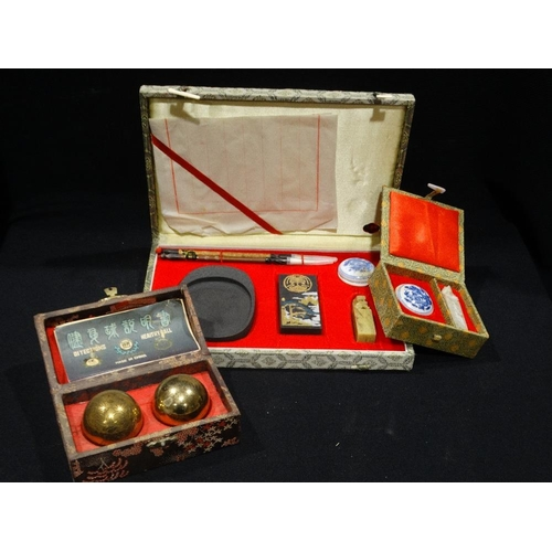 31 - Two Boxed Chinese Seal Sets Etc (3)