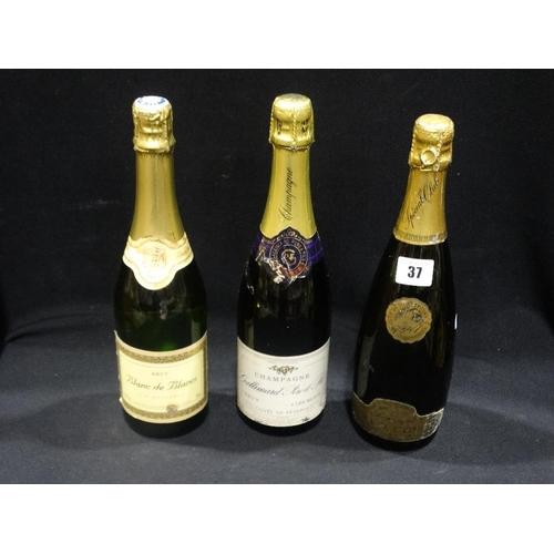 37 - Three Bottles Of Vintage Champagne