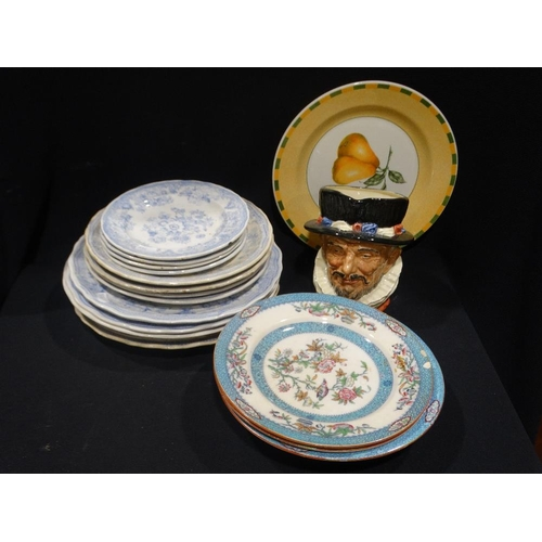 51 - A Quantity Of Circular Asiatic Pheasant Patterned Plates Etc